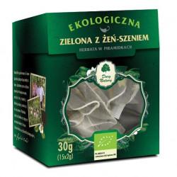 Thé vert de Ceylan Bio au ginseng 15x2g (30g)