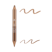 crayon Duo Fard Et Liner Bronze Cuivré / Beige Doré - Certifié Bio
