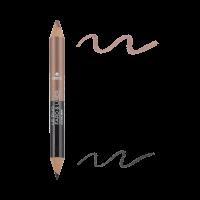 Crayon Duo Fard Et Liner Noir Charbon / Taupe Nacré - Certifié Bio
