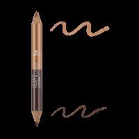 Crayon Duo Fard Et Liner Terre Brûlée / Cuivré Irisé - Certifié Bio